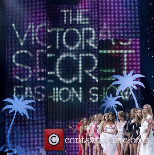 Victoria's Secret models walks the runaway at the...