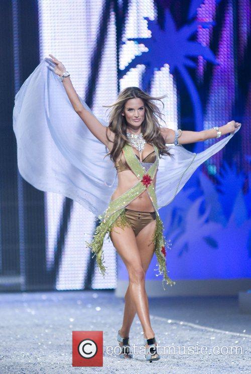 Victoria Secret Angel Alessandra Ambrosio walks the runaway...
