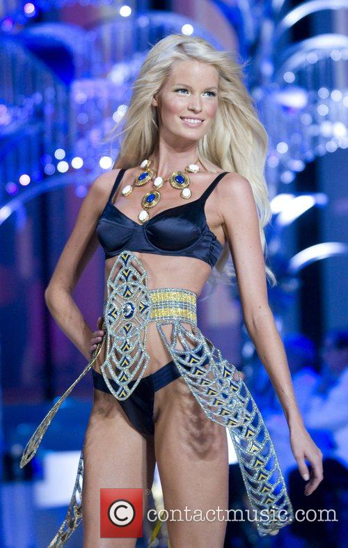 Victoria Secret model walks the runaway at the...