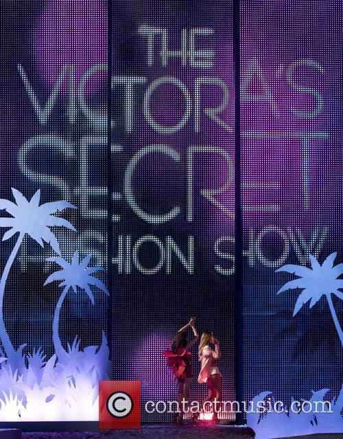 Victoria Secret models walk the runaway at the...