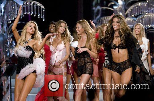 Models walk the runaway at the 2008 Victoria's...