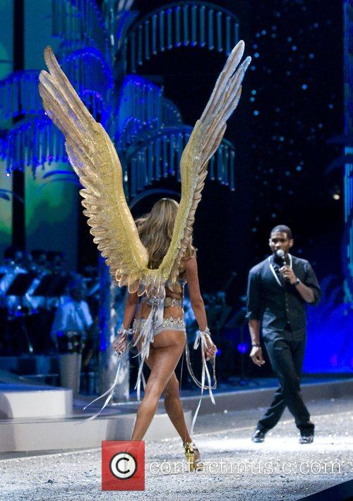 Victoria Secret Angel Alessandra Ambrosio with a performance...