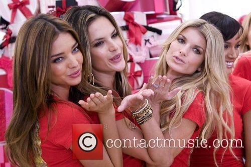Miranda Kerr, Alessandra Ambrosio and Marisa Miller Victoria's...