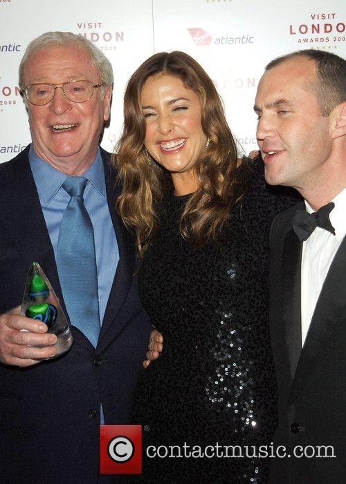 Sir Michael Caine, Lisa Snowden and Johnny Vaughan...