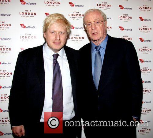 Boris Johnson and Sir Michael Caine  Sir...