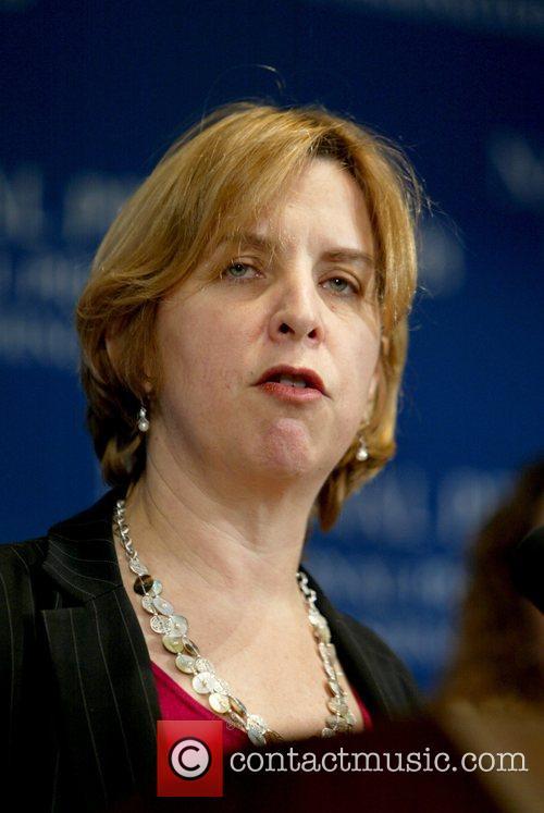 NPR CEO Vivian Schiller addressed a luncheon at...