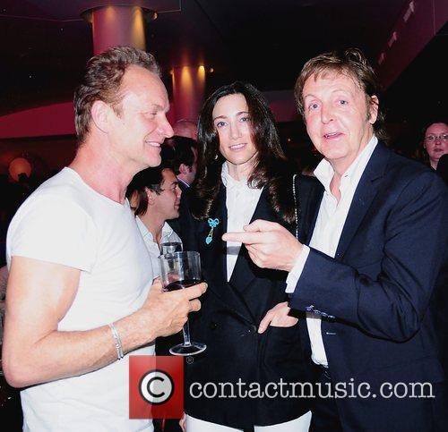 Sting, Nancy Shevell and Paul Mccartney 1