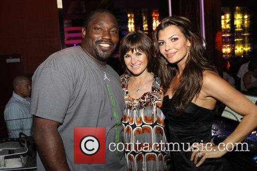 Warren Sapp, Ali Landry (right) and Aura Nightclub...