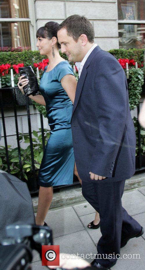 Joel Beckett and Emma Barton leaving a London...
