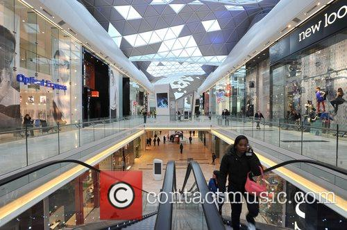 The Westfield Shopping Centre opens in West London....