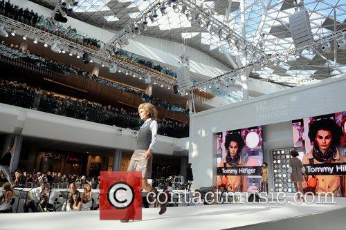 Model Catwalk fashion show at the opening of...