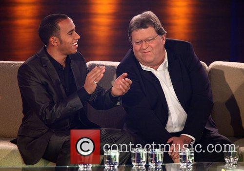 Lewis Hamilton, Norbert Haug on German TV show...