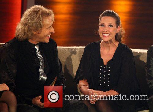 Thomas Gottschalk, Alexandra Neldel on German TV show...