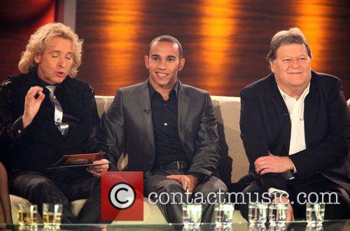 Thomas Gottschalk, Lewis Hamilton, Norbert Haug on German...