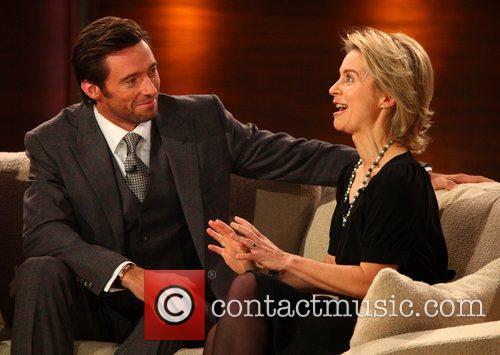 Hugh Jackman and Ursula von der Leyen on...