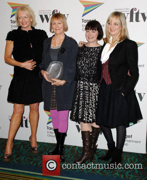 Twiggy, The Winners Of The Itv Acheivement Of The Year Award Judy Craymer, Catherine Johnson and Phyllida Lloyd 7