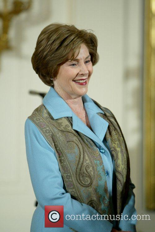 Laura Bush and White House 2