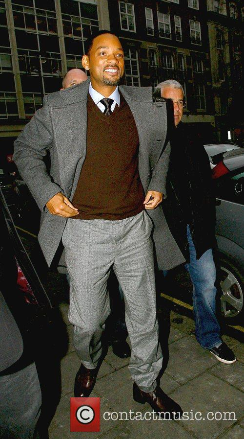 As he arrives at the BBC Radio One...