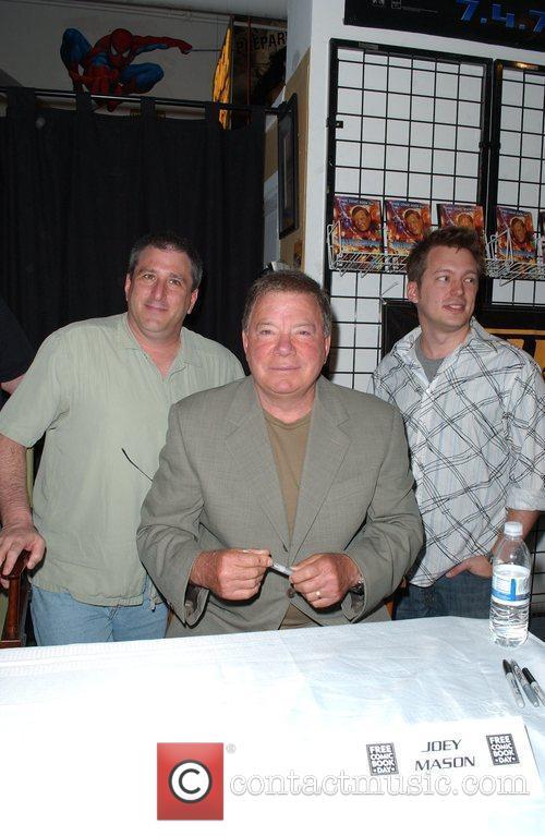 Co-writers Scott Davis, Joey Mason and William Shatner...