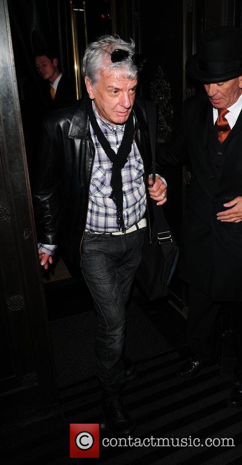 Nicky Haslam leaving the Wolseley restaurant London, England