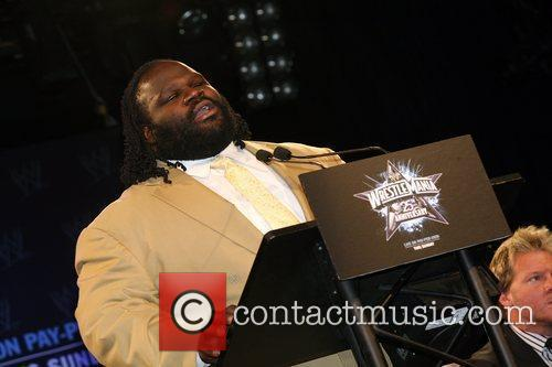 WrestleMania 25th anniversary press conference at the Hard...