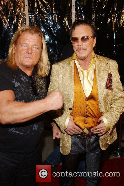 Greg Valentine and Mickey Rourke The L.A. Premiere...