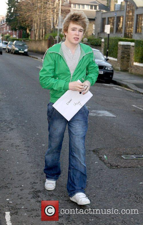 Eoghan Quigg arriving at the 'X Factor' house...