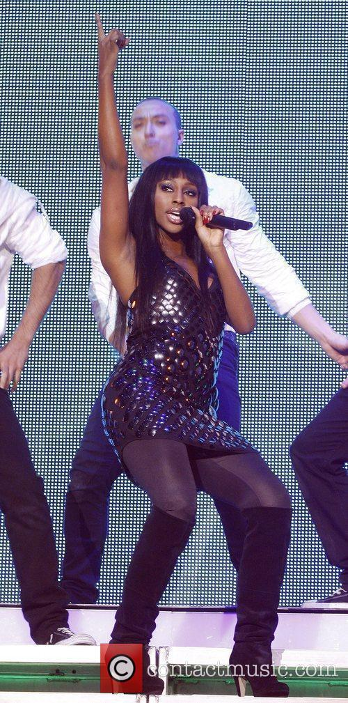 Alexandra Burke performing at the X Factor Live...