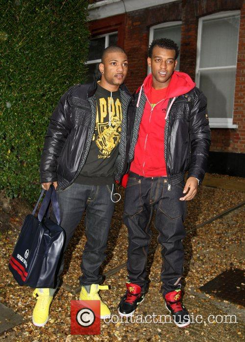 JB and Ortise Williams from group JLS leaving...