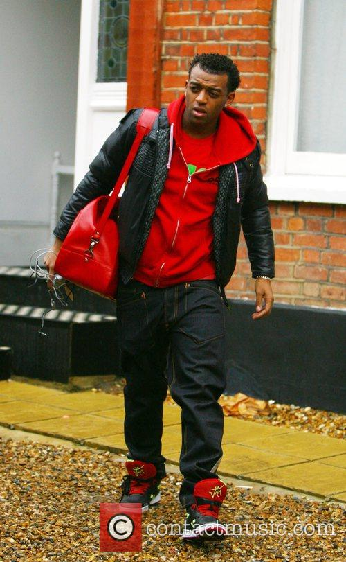 Ortise Williams from group JLS leaving the X...