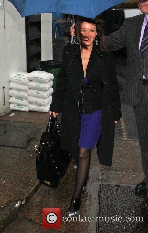 Dannii Minogue arrives at the X Factor studios...