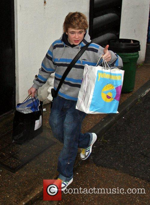 Eoghan Quigg arrives at the X Factor studios...