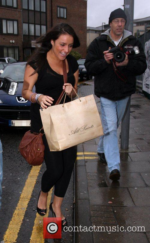 Laura White arrives at the X Factor studios...