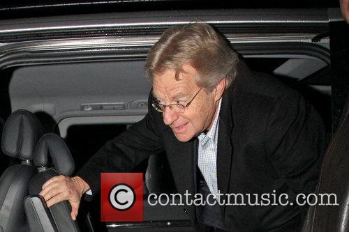 Jerry Springer arriving at the X Factor studios...