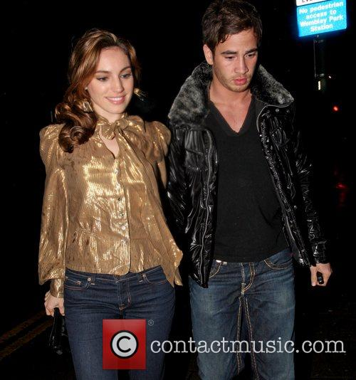 Kelly Brook and Danny Cipriani arriving at the...