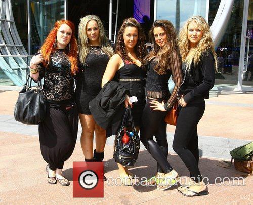 Girl Band Raunch outside the O2 Arena to...
