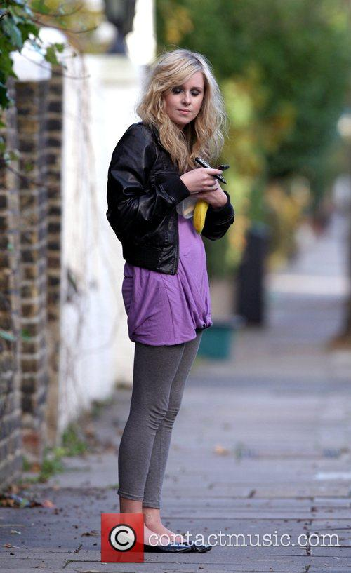 Diana Vickers outside the 'X Factor' house London,...
