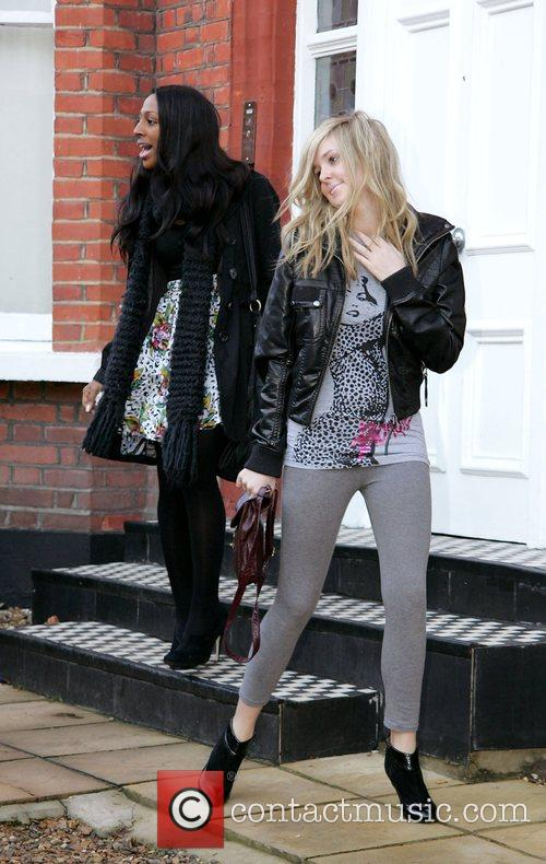 Alexandra Burke and Diana Vickers  leave the...