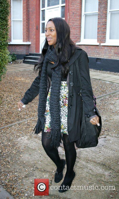 Alexandra Burke  leaving the 'X Factor' house...