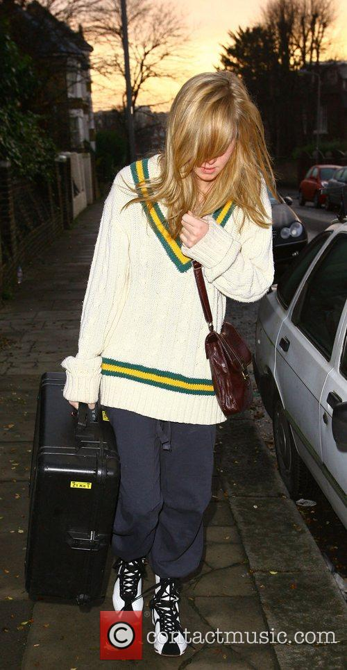Diana Vickers X Factor contestants leave the house...