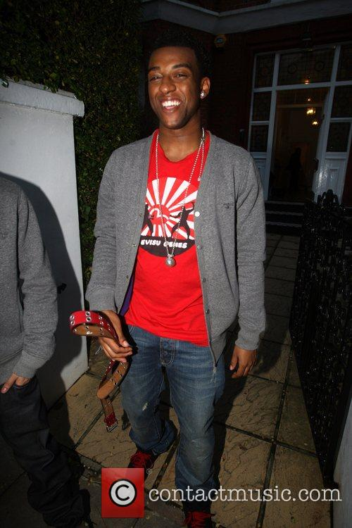 Louis of JLS Seen leaving the X Factor...