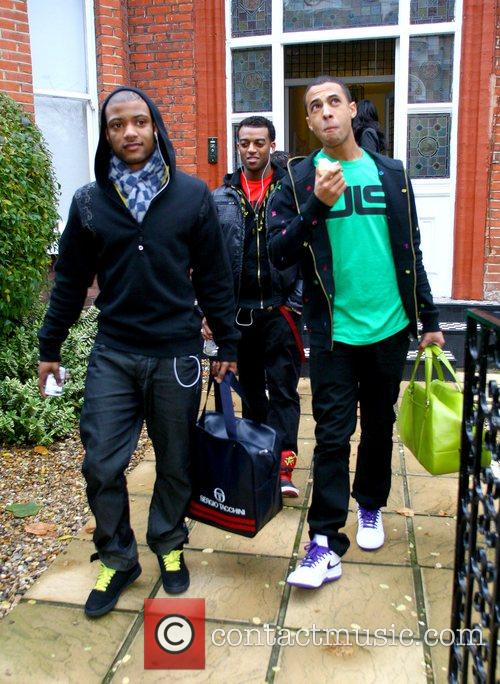 JB, Otrise Williams and Marvin Humes from JLS...