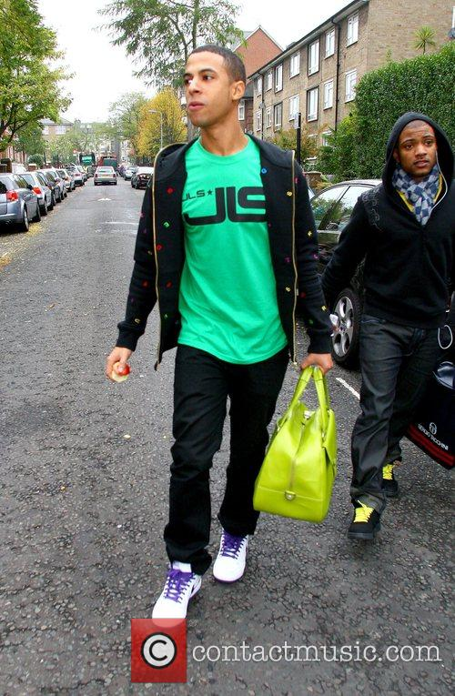 Marvin Humes of JLS leaving the 'X Factor'...
