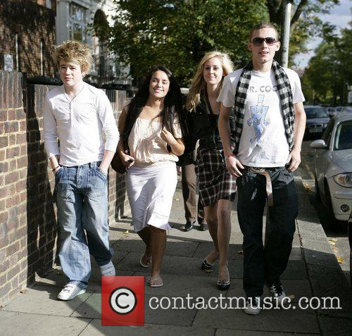 Eoghan Quigg, Laura White, Diana Vickers and Scott...