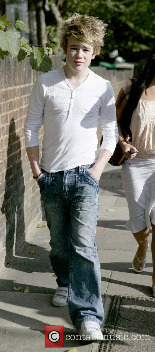 Eoghan Quigg leaving the 'X Factor' house London,...
