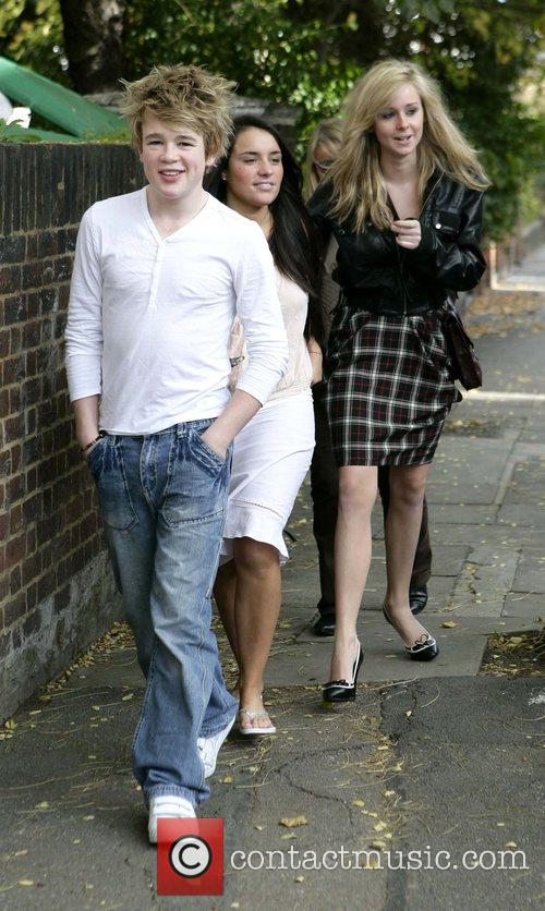 Eoghan Quigg, Laura White and Diana Vickers leaving...
