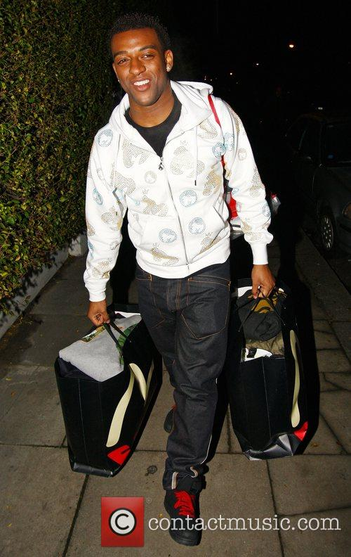 Ortise Williams from JLS arrives back at The...