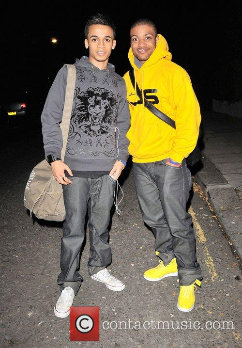 Aston Merrygold and JB of JLS outside the...