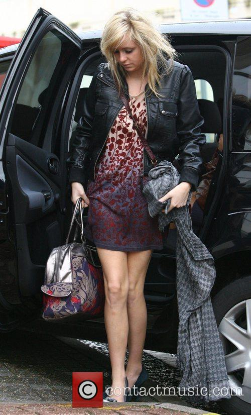 Diana Vickers arriving at rehearsals for the X...