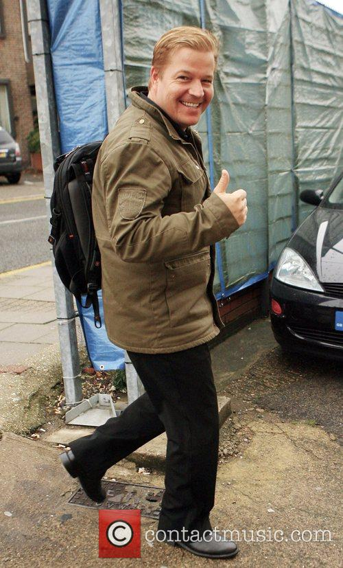 Daniel Evans arriving at rehearsals for the X...